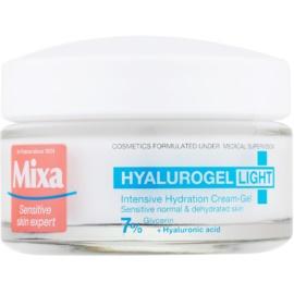 MIXA Hyalurogel Light crema facial hidratante   con ácido hialurónico  50 ml
