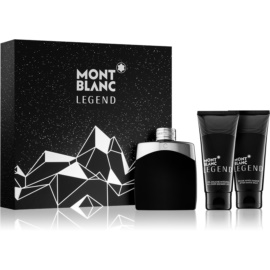 Montblanc Legend lote de regalo X.  eau de toilette 100 ml + bálsamo after shave 100 ml + gel de ducha 100 ml