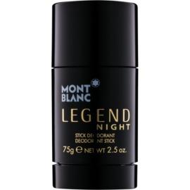 Montblanc Legend Night dezodorant w sztyfcie dla mężczyzn 75 g