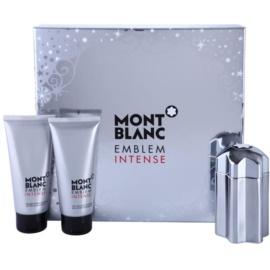Montblanc Emblem Intense zestaw upominkowy I. woda toaletowa 100 ml + balsam po goleniu 100 ml + żel pod prysznic 100 ml