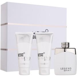 Montblanc Legend Spirit coffret cadeau I.  eau de toilette 100 ml + gel de douche 100 ml + baume après-rasage 100 ml