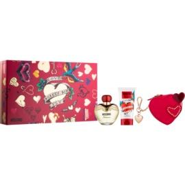 Moschino Glamour dárková sada XI.  parfémovaná voda 50 ml + tělové mléko 50 ml + peněženka 1 ks