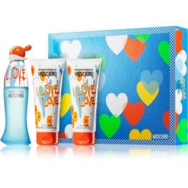 Moschino I Love Love подаръчен комплект VI. тоалетна вода 50 ml + душ гел 100 ml + мляко за тяло 100 ml