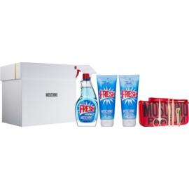 Moschino Fresh Couture darčeková sada IV.  toaletná voda 100 ml + sprchový gel 100 ml + telové mlieko 100 ml + set na manikúru 1 ks