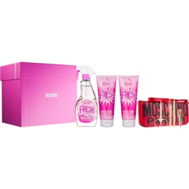 Moschino Fresh Couture Pink ajándékszett I.  Eau de Toilette 100 ml + tusfürdő gél 100 ml + testápoló tej 100 ml + manikűr szett 1 ks
