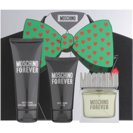 Moschino Forever zestaw upominkowy IV. woda toaletowa 50 ml + balsam po goleniu 50 ml + żel pod prysznic 100 ml