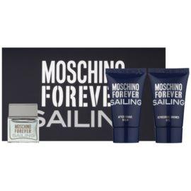 Moschino Forever Sailing ajándékszett teszter férfiaknak 3 db  Eau de Toilette 4,5 ml + tusfürdő gél 25 ml + borotválkozás utáni balzsam 25 ml