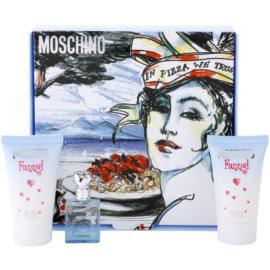 Moschino Funny! dárková sada IV. toaletní voda 4 ml + tělový gel 25 ml + sprchový gel 25 ml