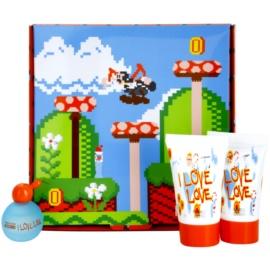 Moschino I Love Love dárková sada toaletní voda 4,9 ml + sprchový gel 25 ml + tělové mléko 25 ml