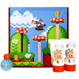 Moschino I Love Love zestaw upominkowy tester dla kobiet 4 szt.  woda toaletowa 4,9 ml + żel pod prysznic 25 ml + mleczko do ciała 25 ml