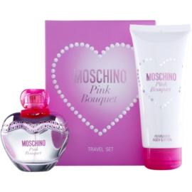 Moschino Pink Bouquet подаръчен комплект VIII. тоалетна вода 50 ml + мляко за тяло 100 ml