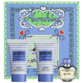Moschino Toujours Glamour dárková sada V. toaletní voda 5 ml + sprchový gel 25 ml + tělové mléko 25 ml
