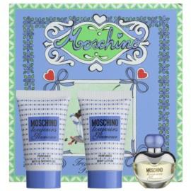 Moschino Toujours Glamour zestaw upominkowy V. woda toaletowa 5 ml + żel pod prysznic 25 ml + mleczko do ciała 25 ml