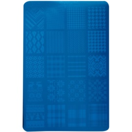 Moyra Nail Art Fabric Texture šablona z vzorčki za nohte 02