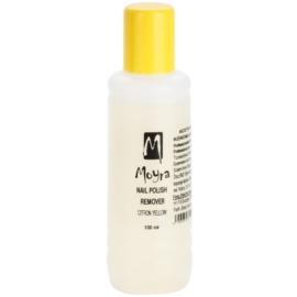 Moyra Nails odlakovač na nehty bez acetonu Citron Yellow 100 ml