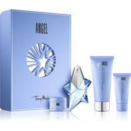 Mugler Angel set cadou XXV.  Eau de Parfum 25 ml + Loțiune de corp 100 ml + 15 ml + Gel de dus 30 ml