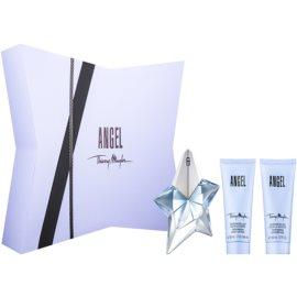 Mugler Angel darilni set XXXI.  parfumska voda 25 ml + losjon za telo 50 ml + gel za prhanje 50 ml
