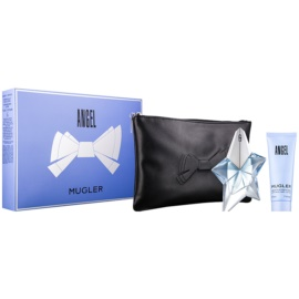 Mugler Angel подаръчен комплект XXXII.  парфюмна вода 25 ml + мляко за тяло 50 ml + чанта