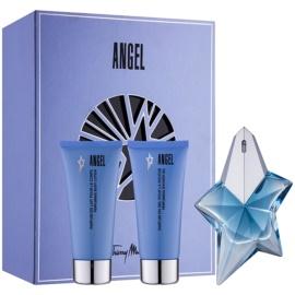 Mugler Angel подаръчен комплект XXXIII.XXXIII.  парфюмна вода 50 ml + мляко за тяло 100 ml + душ гел 100 ml