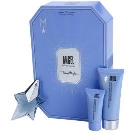 Mugler Angel coffret cadeau XXIX.  eau de parfum 25 ml + lait corporel 100 ml + gel de douche 30 ml + crème corporelle 10 ml