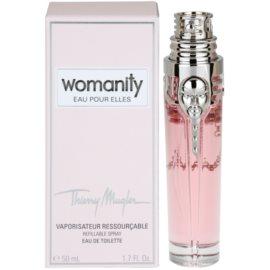 Mugler Womanity Eau pour Elles toaletní voda pro ženy 50 ml plnitelná