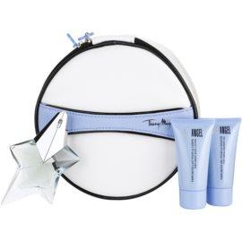 Mugler Angel Vanity Collection dárková sada II. parfémovaná voda 25 ml + tělové mléko 30 ml + sprchový gel 30 ml + kosmetická taška