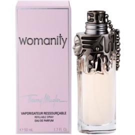 Mugler Womanity eau de parfum nőknek 50 ml utántölthető