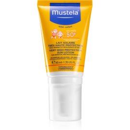 Mustela Solaires creme facial protetor SPF 50+  40 ml