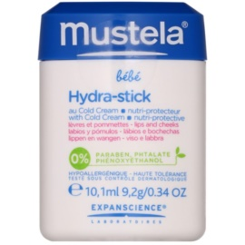Mustela Bébé Hydra Stick захисний зволожуючий стік для губ та щік для дітей  10 мл