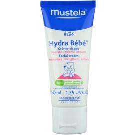 Mustela Bébé Hydra Bébé зволожуючий крем для шкіри обличчя для дітей від народження  40 мл