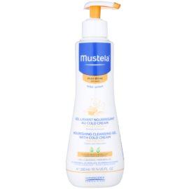 Mustela Bébé Dry Skin nährendes Reinigungsgel mit Schutzcreme zur Erneuerung der Hautbarriere für Kinder ab der Geburt  300 ml