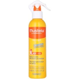 Mustela Solaires spray de protecție solară pentru copii SPF 50+ Very Water Resistant 300 ml