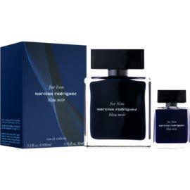 Narciso Rodriguez For Him Bleu Noir zestaw upominkowy I. woda toaletowa 100 ml + woda toaletowa 10 ml