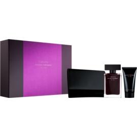 Narciso Rodriguez For Her L'Absolu zestaw upominkowy I.  woda perfumowana 50 ml + mleczko do ciała 50 ml + kosmetyczka