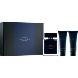 Narciso Rodriguez For Him Bleu Noir zestaw upominkowy III.  woda toaletowa 100 ml + żel pod prysznic 75 ml + żel pod prysznic 75 ml