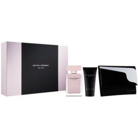 Narciso Rodriguez For Her darčeková sada XXVI.  parfémovaná voda 50 ml + telové mlieko 50 ml + peňaženka