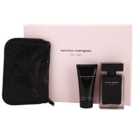 Narciso Rodriguez For Her coffret XVI. Eau de Toilette 50 ml + leite corporal 50 ml + bolsa de cosméticos 17,5 cm x 1 cm x 12 cm