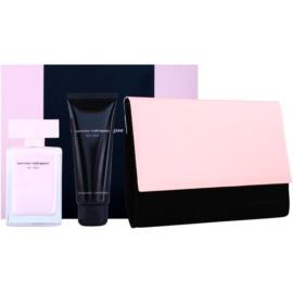 Narciso Rodriguez For Her darčeková sada XIX.  parfémovaná voda 50 ml + telové mlieko 75 ml + kozmetická taška
