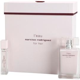Narciso Rodriguez L´Eau For Her lote de regalo I.  eau de toilette 50 ml + eau de toilette 10 ml