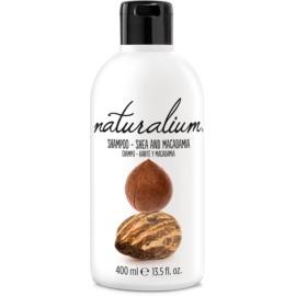Naturalium Nuts Shea and Macadamia regenerační šampon pro suché a poškozené vlasy  400 ml