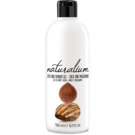 Naturalium Nuts Shea and Macadamia gel de banho regenerador sem parabenos e corantes  500 ml