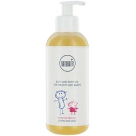 Naturativ Baby fürdő és testápoló olaj gyermekeknek születéstől kezdődően  250 ml