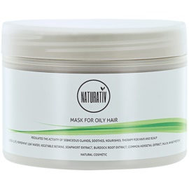 Naturativ Hair Care Getleness,Shine&Strength маска с кал за мазна коса  250 мл.