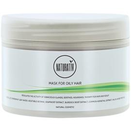 Naturativ Hair Care Getleness,Shine&Strength Schlamm-Maske für fettiges Haar  250 ml
