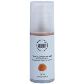 Naturativ Sun Care Sun Fun tönender aufhellender Balsam Für Körper und Beine SPF 10  100 ml