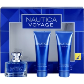 Nautica Voyage dárková sada I. toaletní voda 30 ml + balzám po holení 75 ml + sprchový gel 75 ml