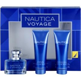 Nautica Voyage darčeková sada I. toaletná voda 30 ml + balzam po holení 75 ml + sprchový gel 75 ml