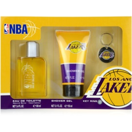 NBA Los Angeles Lakers darilni set I. toaletna voda 100 ml + gel za prhanje 150 ml + obesek za ključe