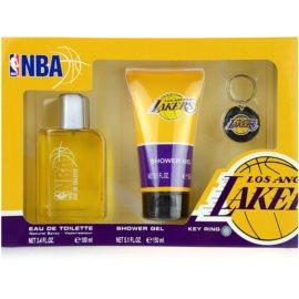 NBA Los Angeles Lakers dárková sada I. toaletní voda 100 ml + sprchový gel 150 ml + klíčenka