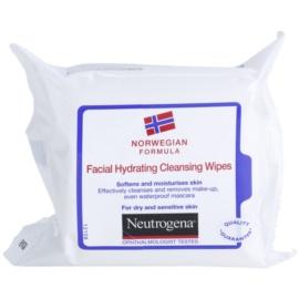 Neutrogena Face Care tisztító törlőkendő száraz és érzékeny bőrre  25 db